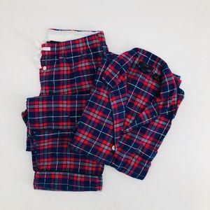 J.Crew Classic Flannel Pajama Set Small PJs Plaid